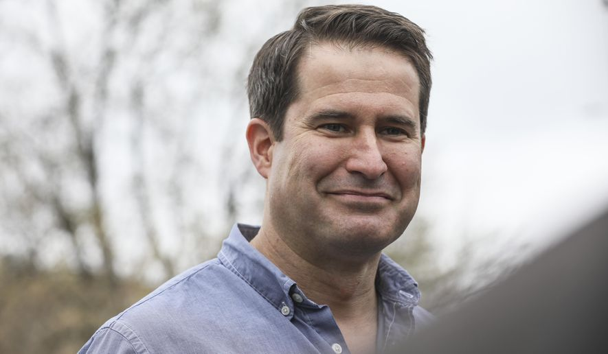 Democratic presidential candidate Rep. Seth Moulton, D-Mass., speaks to the media during a campaign event at Liberty House in Manchester, N.H., Tuesday, April 23, 2019. (AP Photo/Cheryl Senter) ** FILE **