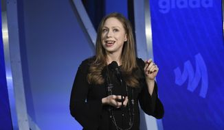 Author Chelsea Clinton speaks at the 30th annual GLAAD Media Awards at the New York Hilton Midtown on Saturday, May 4, 2019, in New York. (Photo by Evan Agostini/Invision/AP) ** FILE **