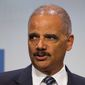 In this Sept. 15, 2018 file photo, former Attorney General Eric Holder addresses the Human Rights Campaign National Dinner in Washington, D.C. (Associated Press/File)