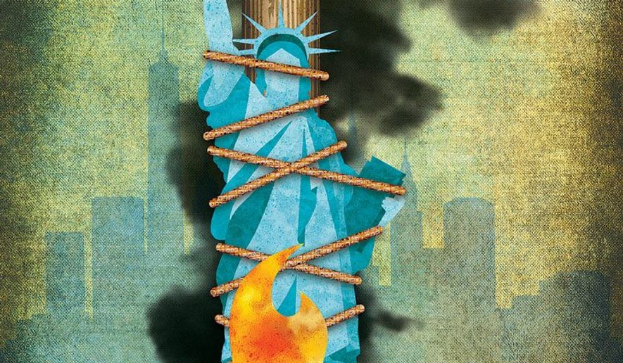 Illustration on the Decocrats' increasingly radical mindset by Greg Groesch/The Washington Times
