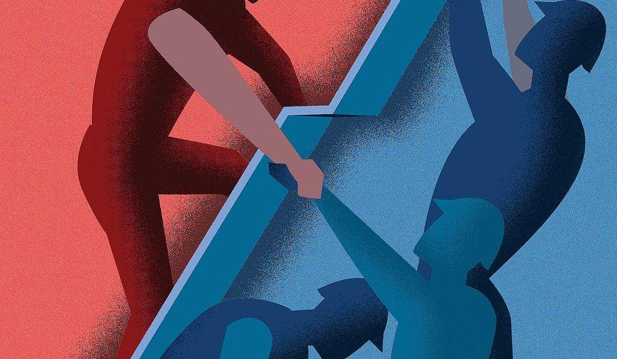 Illustration on U.S. economic growth by Linas Garsys/The Washington Times