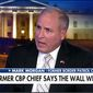"""""""The wall works. This is based on historical data and facts that can be proved,"""" said Mark Morgan during a Fox News appearance in January. (FOX NEWS)"""