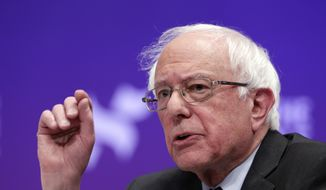 In this Wednesday, April 24, 2019, file photo, Democratic presidential candidate Sen. Bernie Sanders, I-Vt., answers questions during a presidential forum held by She The People, on the Texas State University campus in Houston. (AP Photo/Michael Wyke, File)