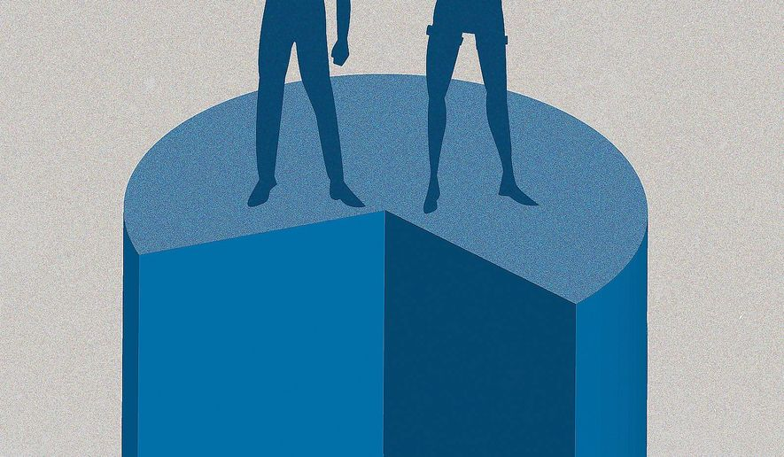 Illustration on the youth vote by Linas Garsys/The Washington Times