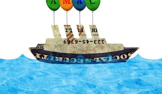 Righting the Social Security Ship Illustration by Greg Groesch/The Washington Times