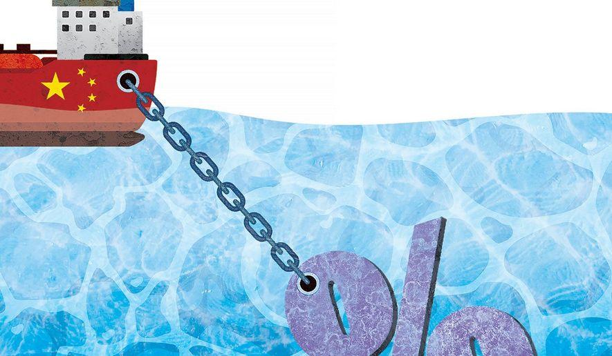 Tariff Anchor Illustration by Greg Groesch/The Washington Times