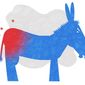 Illustration on Democratic sore losers by Alexander Hunter/The Washington Times