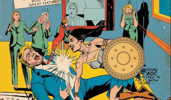 """""""Alexandria Ocasio-Cortez And The Freshman Force: New Party, Who Dis?"""" comes out by publisher Devil's Due comes out May 15, 2019. The issue features 12 variant covers. (Image: Devil's Due via Sweat Equity Publicity press release)"""