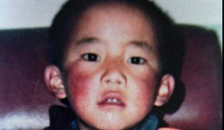 Gedhun Choekyi Nyima is shown in an undated photograph from the Dalai Lama's New Delhi office. He was selected to become the 11th Panchen Lama, second most revered Tibetan religious figure after the Dalai Lama. (AP Photo/ho) **FILE**