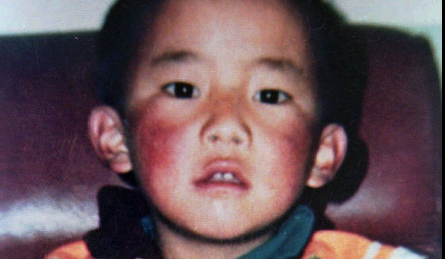Gedhun Choekyi Nyima is shown in an undated photograph from the Dalai Lama's New Delhi office. He was selected to become the 11th Panchen Lama, second most revered Tibetan religious figure after the Dalai Lama. (AP Photo/ho)