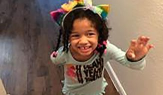 This undated photo released by the Houston Police Department shows Maleah Davis. Houston police are trying to determine what happened to the 4-year-old girl after her stepfather said she was taken by men who released him and his 2-year-old son after abducting them as well. An Amber Alert was issued Sunday morning, May 7, 2019, for Maleah Davis. (Houston Police Department via AP)
