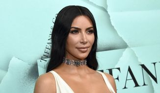 Kim Kardashian West appears at the Tiffany & Co. 2018 Blue Book Collection: The Four Seasons of Tiffany celebration in New York, Oct. 9, 2018. (Photo by Evan Agostini/Invision/AP, File) **FILE**