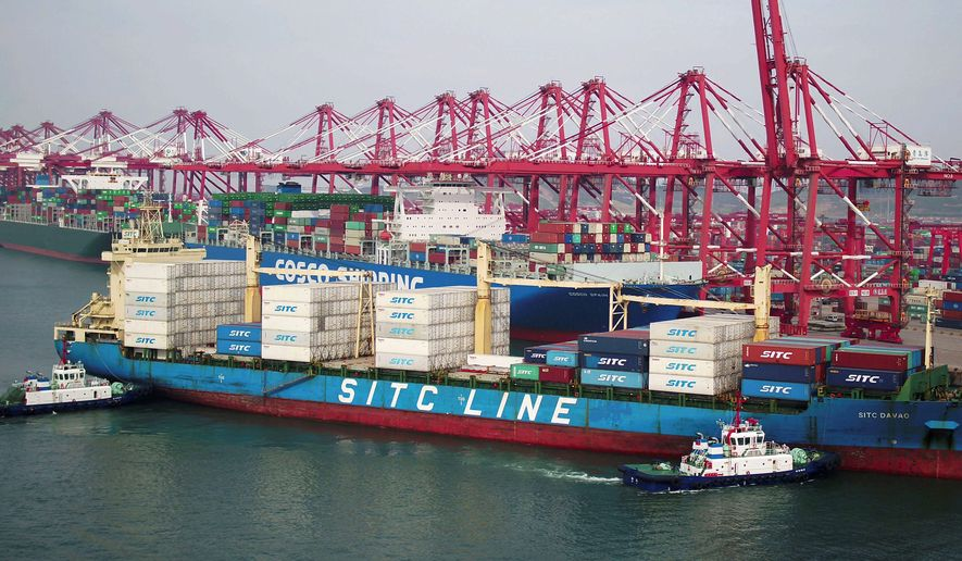 China's exports fell unexpectedly in April, adding to pressure on Beijing ahead of negotiations on ending a tariff war with Washington over Chinese technology ambitions. (Associated Press/File)