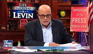 "Fox News Channel host and talk radio kingpin Mark Levin's new book ""Unfreedom of the Press"" will be available on May 21. (Fox News) ** FILE **"