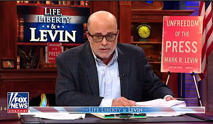 "Fox News Channel host and talk radio kingpin Mark Levin's new book ""Unfreedom of the Press"" will be available on May 21. (Fox News)"