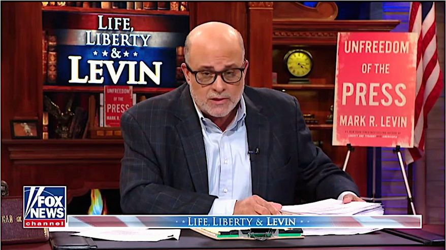 """Fox News Channel host and talk radio kingpin Mark Levin's new book """"Unfreedom of the Press"""" will be available on May 21. (Fox News) ** FILE **"""