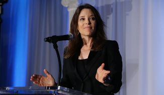 Marianne Williamson seen at YWCA Greater Los Angeles Phenomenal Woman of the Year Award at the Omni Los Angeles Hotel on Wednesday, May 14, 2014, in Los Angeles, CA. (Photo by Eric Charbonneau/Invision for YWCA/AP Images)