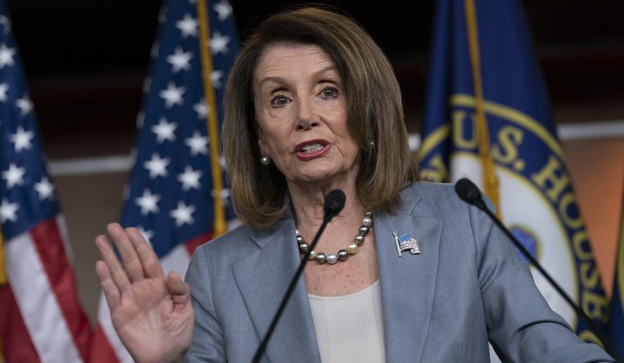 Speaker of the House Nancy Pelosi, D-Calif., meets with reporters the day after the Democrat-controlled House Judiciary Committee voted to hold Attorney General William Barr in contempt of Congress, eat a news conference on Capitol Hill in Washington, Thursday, May 9, 2019.  (AP Photo/J. Scott Applewhite)