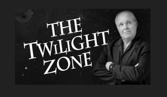 """Radio host Rush Limbaugh told listeners on May 9, 2019, that Democrats and """"Never Trump"""" Republicans would rather live in """"The Twilight Zone"""" than move on from Russian conspiracy theories after Special Counsel Robert Mueller's report. (Image: RushLimbaugh.com)"""