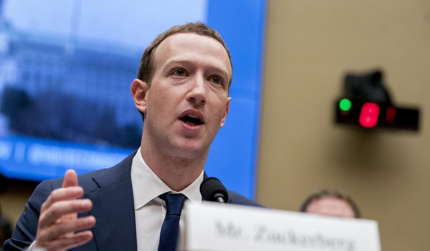 In this April 11, 2018, file photo, Facebook CEO Mark Zuckerberg testifies before a House Energy and Commerce hearing on Capitol Hill in Washington. (AP Photo/Andrew Harnik, File)