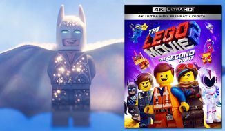 "Lego Batman in his wedding suit from ""The Lego Movie 2: The Second Part,"" now available on 4K Ultra HD from Warner Bros. Home Entertainment."