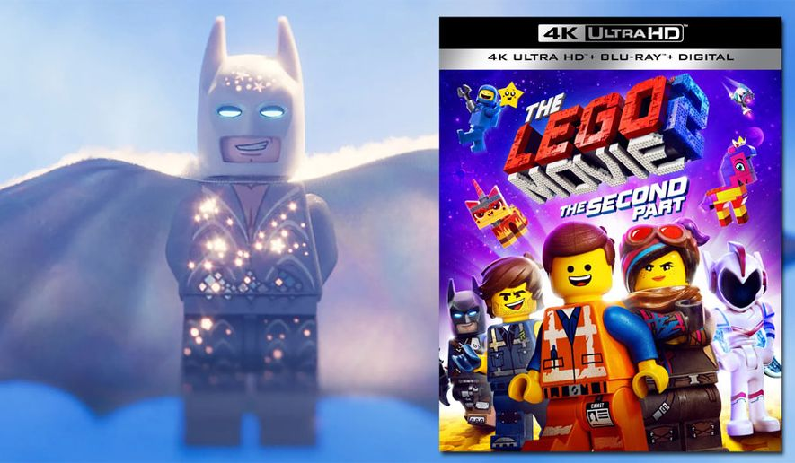 """Lego Batman in his wedding suit from """"The Lego Movie 2: The Second Part,"""" now available on 4K Ultra HD from Warner Bros. Home Entertainment."""