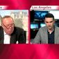 """Ben Shapiro defends his commentary during a """"Politics Live"""" interview with BBC's Andrew Neil, May 10, 2019. (Image: BBC video screenshot)"""