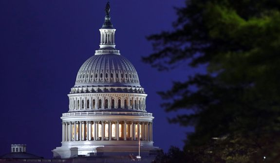 This April 18, 2019, file photo shows the dome of the U.S. Capitol in Washington.  (AP Photo/Patrick Semansky, File)