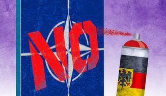 Anti-NATO Germany Illustration by Greg Groesch/The Washington Times