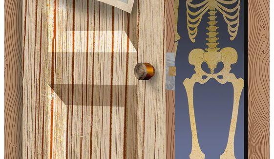 Skeleton in Biden Closet Illustration by Greg Groesch/The Washington Times