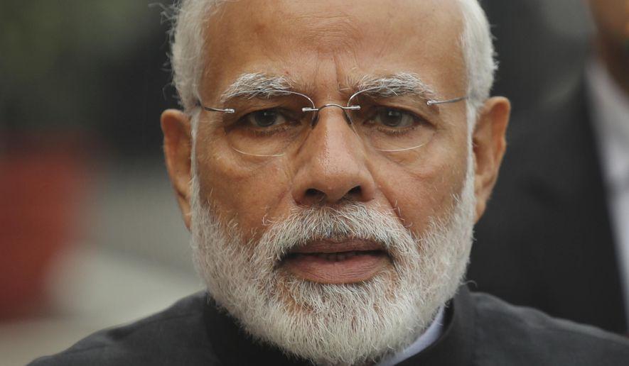 A Dec. 11, 2018, file photo of Indian Prime Minister Narendra Modi in New Delhi, India. (Associated Press)