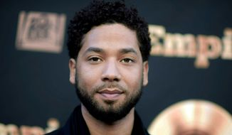"""In this May 20, 2016 file photo, actor and singer Jussie Smollett attends the """"Empire"""" FYC Event in Los Angeles. The Fox network says """"Empire"""" will be back next year for one last season. Whether Smollett is part of it remains to be seen, Fox executives said in announcing the 2019-20 season. There is an option to have Smollett in the final sixth year but there is no plan to include him at this point, Fox Entertainment CEO Charlie Collier told a teleconference Monday, May 13, 2019. (Richard Shotwell/Invision/AP, File)"""