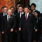 """In a think tank report, a senior fellow referred to the relationship between Russia and China as an """"emerging China-Russia Axis."""" (Associated Press)"""