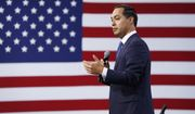 Former Housing and Urban Development Secretary and Democratic presidential candidate Julian Castro speaks at a Service Employees International Union forum on labor issues, Saturday, April 27, 2019, in Las Vegas. (AP Photo/John Locher) ** FILE **