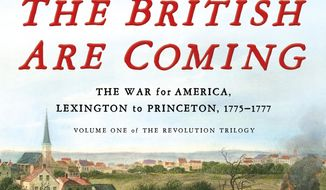 "This cover image released by Henry Holt and Company shows ""The British Are Coming,"" by Rick Atkinson. (Henry Holt and Company via AP)"