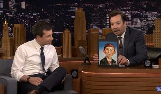 """Democratic presidential hopeful Pete Buttigieg jabbed President Trump for making a literary reference """"possibly for the first time"""" after the president compared him to Alfred E. Neuman last week. (The Tonight Show)"""