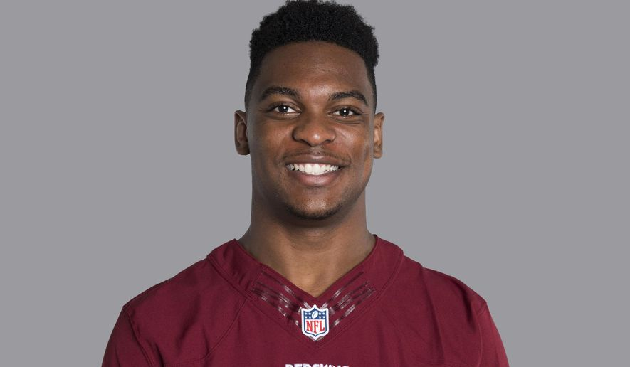 FILE- This 2017, file photo, shows Washington Redskins safety Montae Nicholson. Charges against the Redskins safety stemming from an altercation in December have been dropped. Loudoun County Assistant Commonwealth's Attorney Amy McMullen confirmed to The Associated Press on Tuesday, May 14, 2019, that the case against Nicholson has been dismissed (AP Photo) ** FILE **