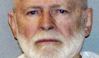 """This file June 23, 2011, booking photo provided by the U.S. Marshals Service shows James """"Whitey"""" Bulger. (AP Photo/U.S. Marshals Service, File)"""