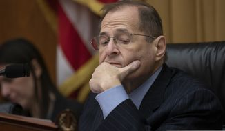House Judiciary Committee Chairman Jerrold Nadler, D-N.Y., leads his panel on a hearing about executive privilege and congressional oversight, on Capitol Hill in Washington, Wednesday, May 15, 2019.  (AP Photo/J. Scott Applewhite)