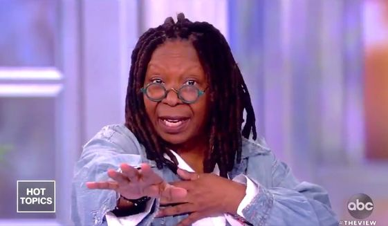 "Whoopi Goldberg of ABC's ""The View"" says Massachusetts Sen. Elizabeth Warren ""can't face"" American voters if she can't face questions from Fox News, May 15, 2019. (Image: ABC, ""The View"" screenshot)"