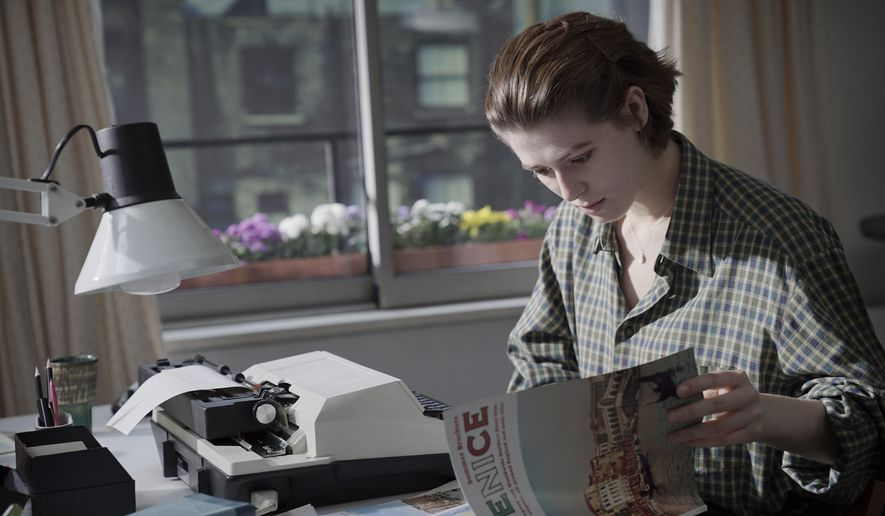"""This image released by A24 shows Honor Swinton Byrne in a scene from """"The Souvenir."""" (A24 via AP)"""