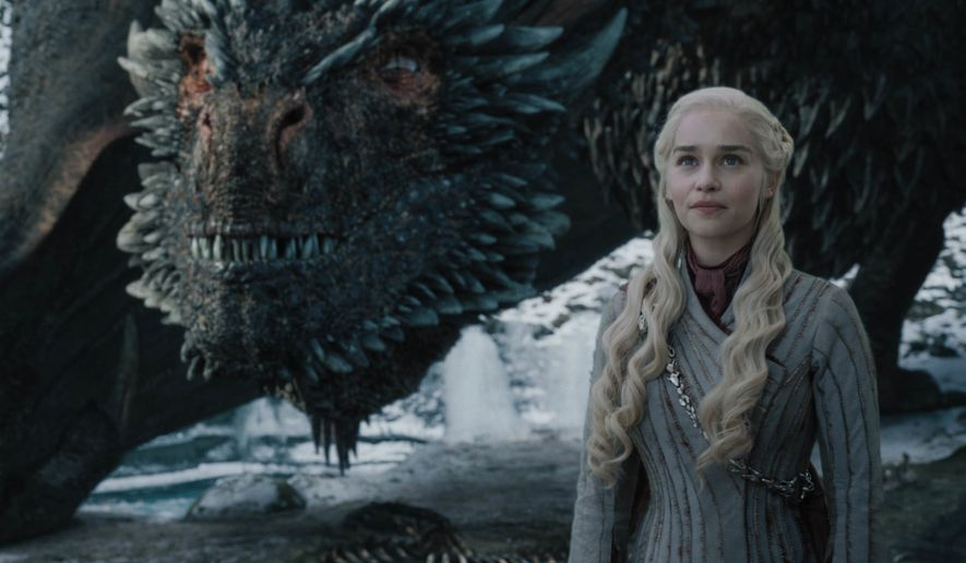 "This image released by HBO shows Emilia Clarke in a scene from ""Game of Thrones,"" that aired Sunday, May 5, 2019. In the third to last episode of HBOs Game of Thrones, Mother of Dragons Daenerys Targaryen is suffering from a crisis of confidence. She is short on troops and dragons, short on strategies and short on friends. And her claim to the Iron Throne has weakened upon learning that Jon Snow, in fact, shares her royal Targaryen blood. (Helen Sloan/HBO via AP)"