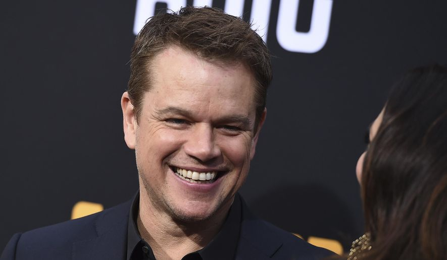 "Matt Damon arrives at the Los Angeles premiere of ""Catch-22"" at TCL Chinese Theatre on Tuesday, May 7, 2019. (Photo by Jordan Strauss/Invision/AP) ** FILE **"