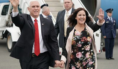 Vice President Mike Pence and Mrs. Karen Pence land at Lynchburg Regional Airport Saturday May 11, 2019 (Official White House Photo by D. Myles Cullen)