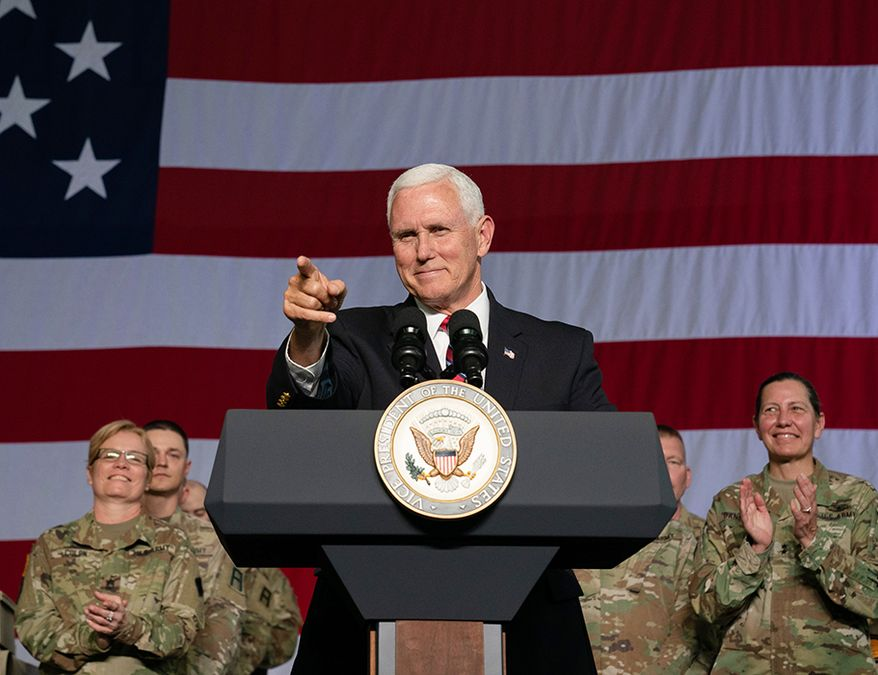 Vice President Mike Pence visits troops at Fort McCoy in Wisconsin Thursday, May 16, 2019. (Official White House Photo by D. Myles Cullen)