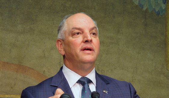 Louisiana Gov. John Bel Edwards (D), is shown here in a May 2019 file photo. (Associated Press) **FILE**
