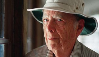 This May 15, 2000, file photo, shows Pulitzer Prize-winning author Herman Wouk in Palm Springs, Calif. Wouk died in his sleep early Friday, May 17, 2019, according to his literary agent Amy Rennert. He was 103. (AP Photo/Douglas L. Benc Jr., File) **FILE**