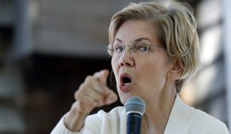 """The overwhelming majority of Americans have no desire to return to the world before Roe v. Wade. And so the time to act is now,"" said Sen. Elizabeth Warren of Massachusetts. (Associated Press)"