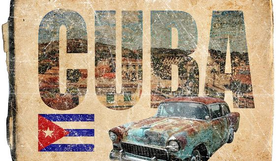 Postcard from Cuba Illustration by Greg Groesch/The Washington Times