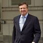 In this May 23, 2018, file photo, Paul Manafort, President Donald Trump's former campaign chairman, leaves the Federal District Court after a hearing in Washington. (AP Photo/Jose Luis Magana, File)